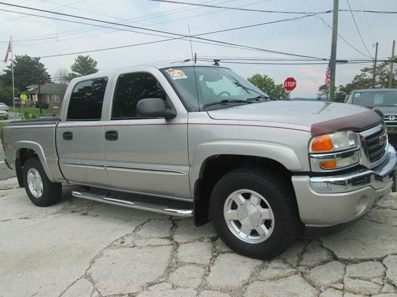 2006 gmc sierra 1500 slt 4dr crew cab 4wd 5 8 ft sb in mount airy nc flat rock motors. Black Bedroom Furniture Sets. Home Design Ideas