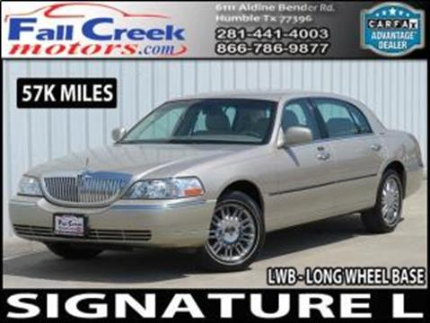 2008 Lincoln Town Car for sale in Humble, TX