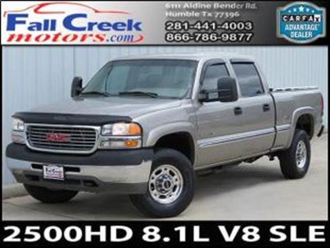 2001 GMC Sierra 2500HD for sale in Humble, TX