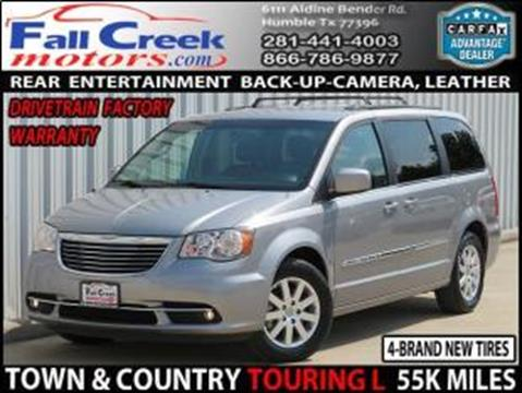 2014 Chrysler Town and Country for sale in Humble, TX