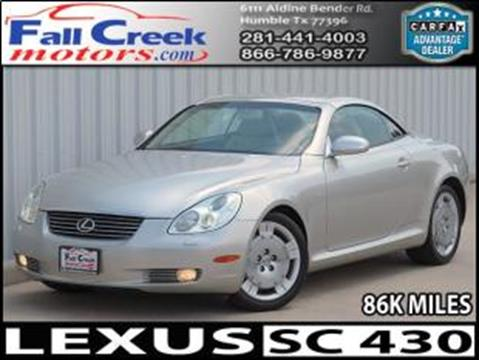 2004 Lexus SC 430 for sale in Humble, TX