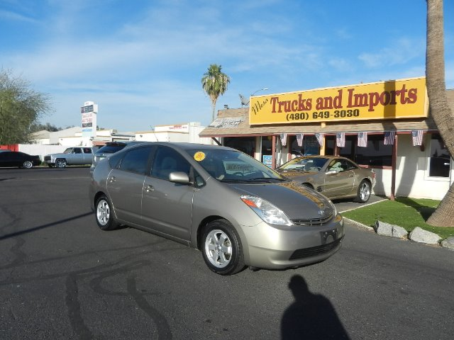 2005 TOYOTA PRIUS 4-DOOR LIFTBACK gold clean carfax shows service records 29 mpg side airbags s