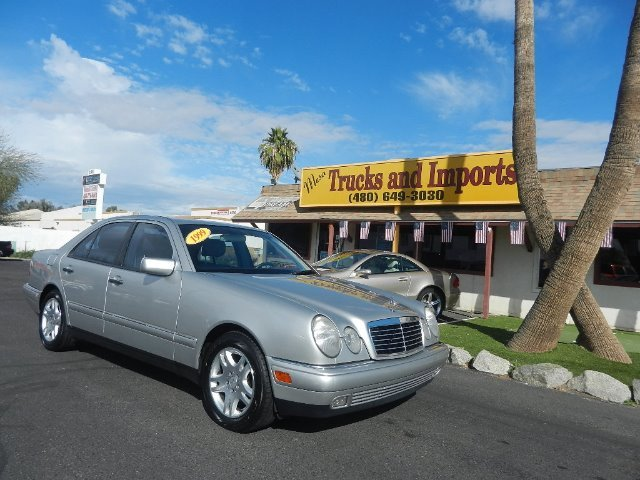 1999 MERCEDES-BENZ E-CLASS E430 silver 26 mpg clean carfax shows service records power everythin