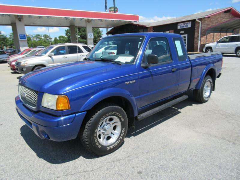 2002 FORD RANGER SUPER CAB blue air conditioning power windows power locks power steering til
