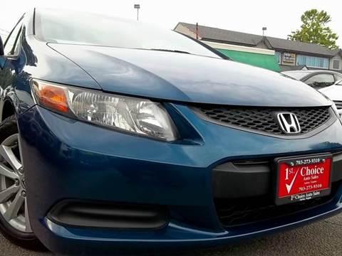 2012 Honda Civic for sale in Fairfax, VA