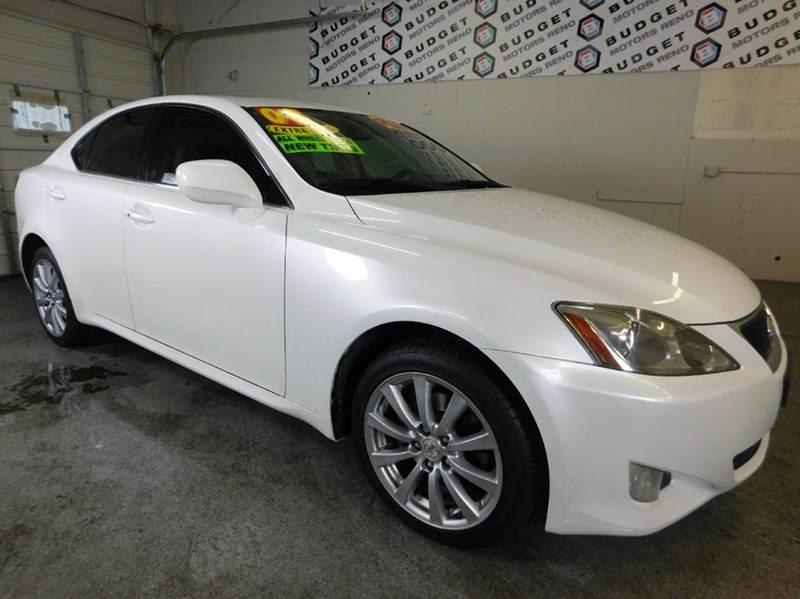 2008 lexus is 250 awd 4dr sedan in reno nv budget motors for Budget motors reno nv