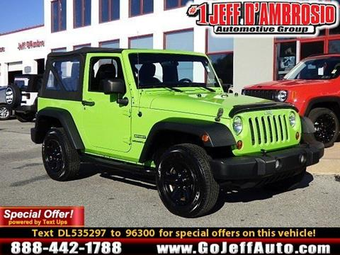2013 Jeep Wrangler for sale in Downingtown, PA