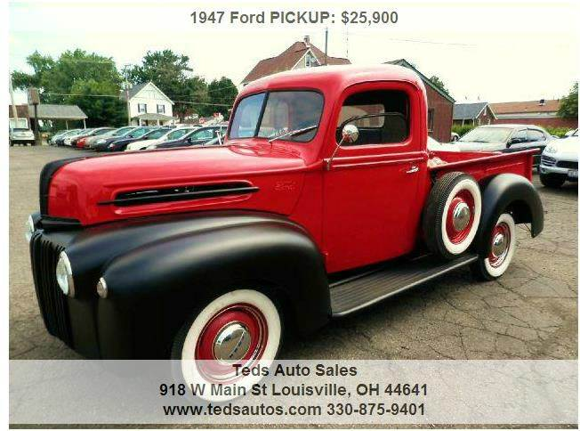 1947 Ford Pickup Truck In Louisville Akron Alliance Ted S