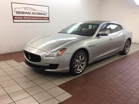 2014 Maserati Quattroporte for sale in Dedham, MA