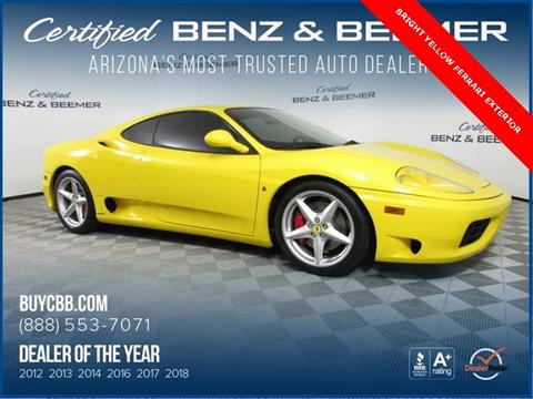 2001 Ferrari 360 Modena for sale in Scottsdale, AZ