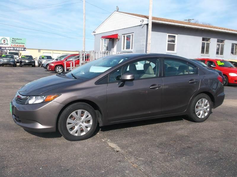 2012 Honda Civic Lx 4dr Sedan 5a In Troy Oh Buckeye Motors