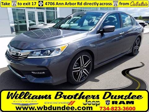 2016 Honda Accord for sale in Dundee, MI