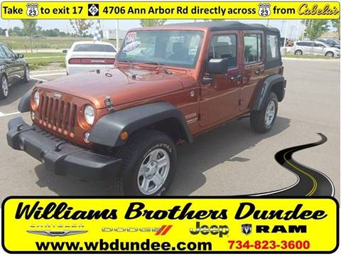 2014 Jeep Wrangler Unlimited for sale in Dundee, MI