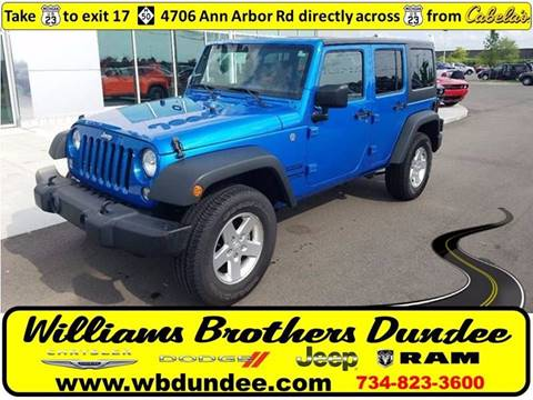 2016 Jeep Wrangler Unlimited for sale in Dundee, MI