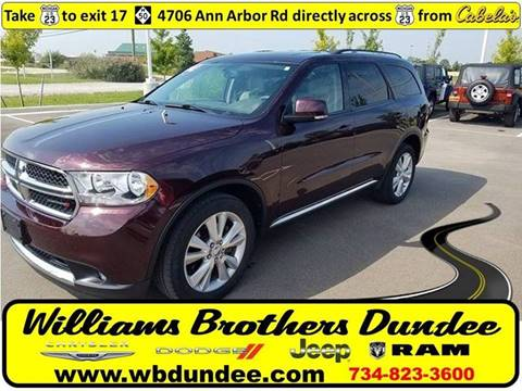 2012 Dodge Durango for sale in Dundee, MI
