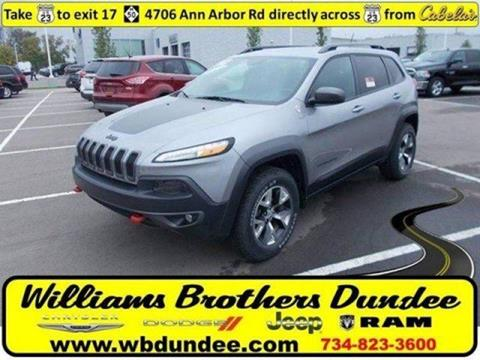 2015 Jeep Cherokee for sale in Dundee, MI