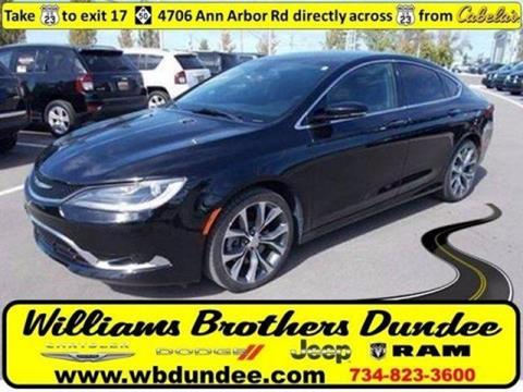 2015 Chrysler 200 for sale in Dundee MI