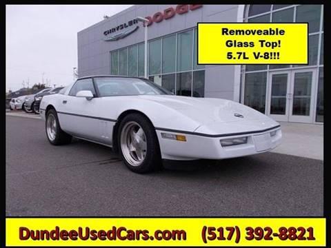 1986 Chevrolet Corvette For Sale In Dundee Mi