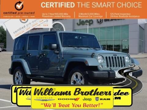2015 Jeep Wrangler Unlimited for sale in Dundee, MI