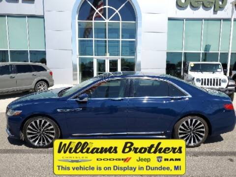 2017 Lincoln Continental for sale at Williams Brothers - Pre-Owned Monroe in Monroe MI