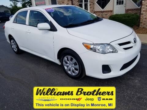 2013 Toyota Corolla for sale at Williams Brothers - Pre-Owned Monroe in Monroe MI