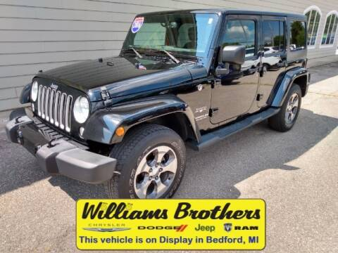 2016 Jeep Wrangler Unlimited for sale at Williams Brothers - Pre-Owned Monroe in Monroe MI