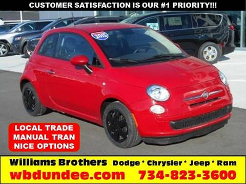 2015 FIAT 500 for sale in Dundee, MI