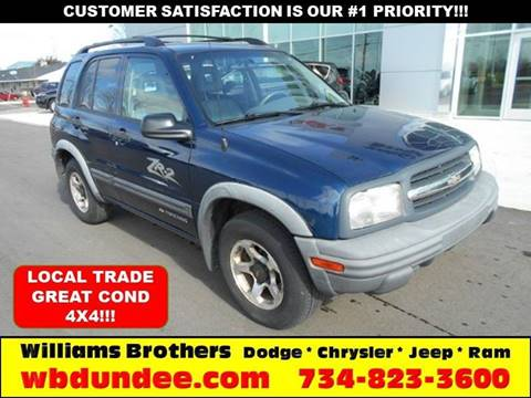 2002 Chevrolet Tracker for sale in Dundee, MI