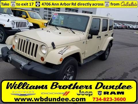 2011 Jeep Wrangler Unlimited for sale in Dundee, MI