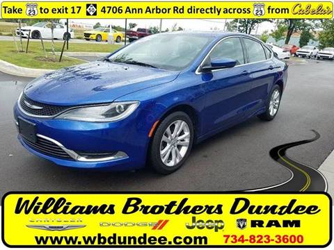 2015 Chrysler 200 for sale in Dundee, MI