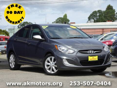 2013 Hyundai Accent for sale at AK Motors in Tacoma WA