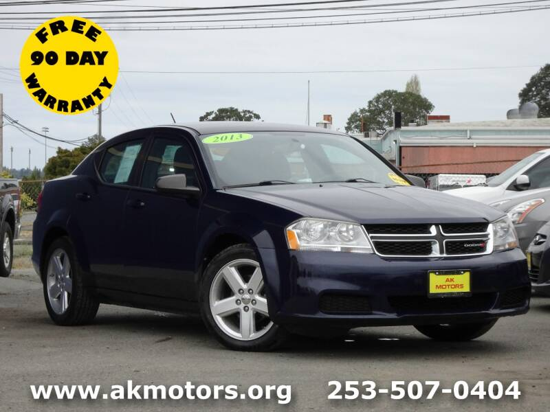 2013 Dodge Avenger for sale at AK Motors in Tacoma WA