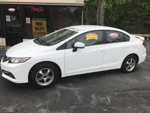 2014 Honda Civic for sale at BORGES AUTO CENTER, INC. in Taunton MA
