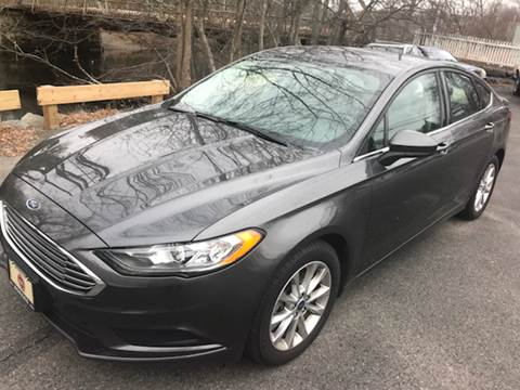 2017 Ford Fusion for sale at BORGES AUTO CENTER, INC. in Taunton MA