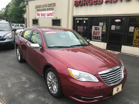 2012 Chrysler 200 for sale at BORGES AUTO CENTER, INC. in Taunton MA