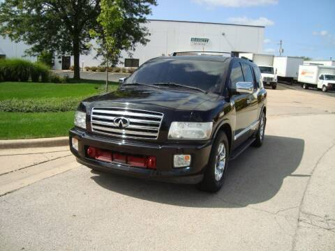 2005 Infiniti QX56 for sale at ARIANA MOTORS INC in Addison IL