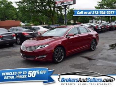 2016 Lincoln MKZ for sale in Taylor, MI