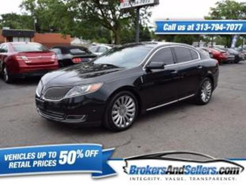 2013 Lincoln MKS for sale in Taylor, MI