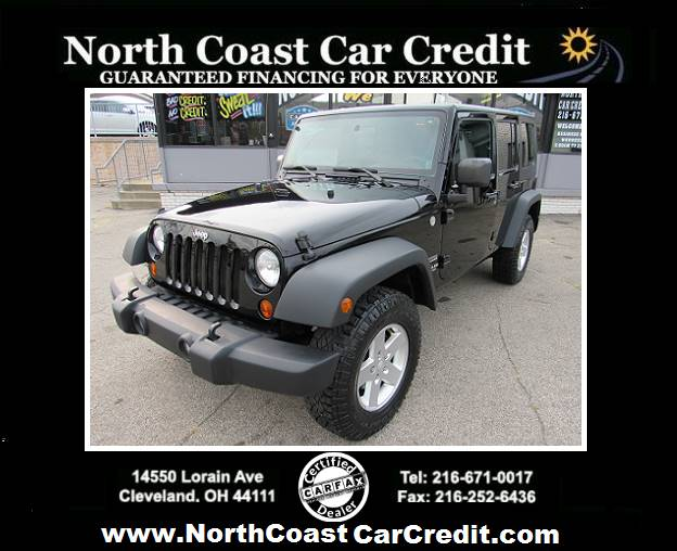 2010 Jeep Wrangler Unlimited Sport 4x4 4dr SUV at North Coast Car Credit