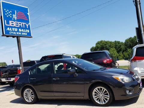 2013 Subaru Impreza for sale at Liberty Auto Sales in Merrill IA