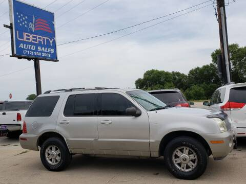 2002 Mercury Mountaineer for sale at Liberty Auto Sales in Merrill IA