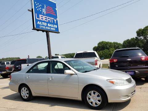 2002 Toyota Camry for sale at Liberty Auto Sales in Merrill IA