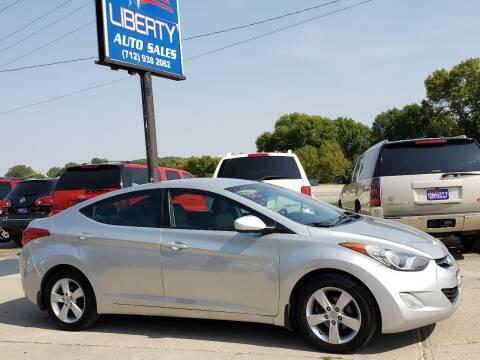 2012 Hyundai Elantra for sale at Liberty Auto Sales in Merrill IA