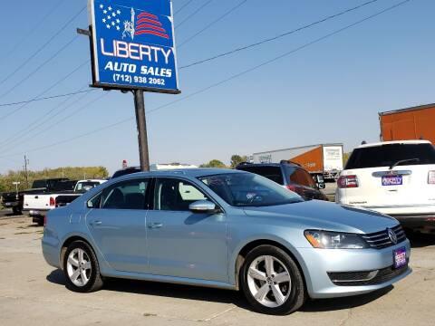 2012 Volkswagen Passat for sale at Liberty Auto Sales in Merrill IA
