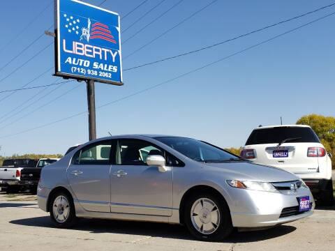 2008 Honda Civic for sale at Liberty Auto Sales in Merrill IA