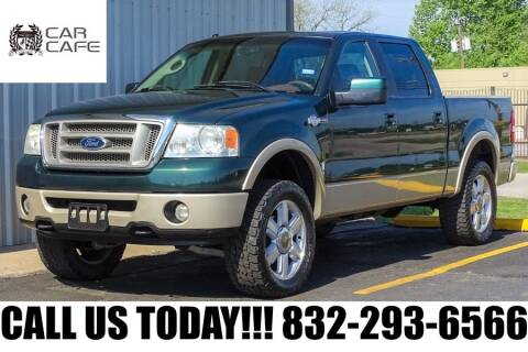 2008 Ford F-150 King Ranch for sale at CAR CAFE LLC in Houston TX