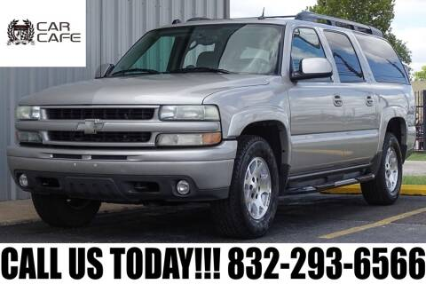 2005 Chevrolet Suburban for sale at CAR CAFE LLC in Houston TX