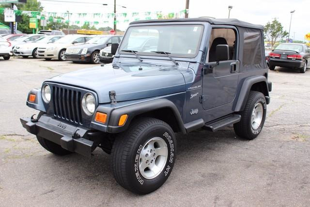 2002 JEEP WRANGLER SPORT 4WD 2DR SUV blue driver  front passenger next generation airbags wpass