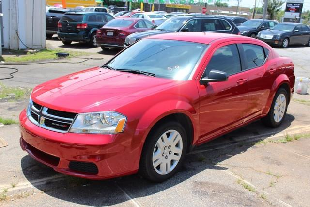 2014 DODGE AVENGER SE 4DR SEDAN red side impact beamsdual stage driver and passenger seat-mounte
