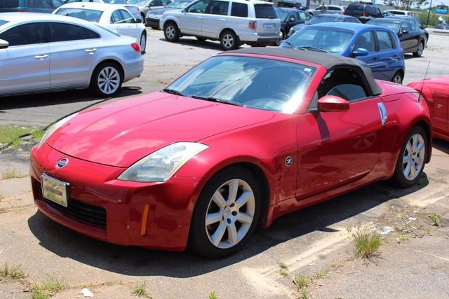 2005 NISSAN 350Z 2DR ROADSTER TOURING AUTO red dual stage supplemental air bagsseat belts wpre-